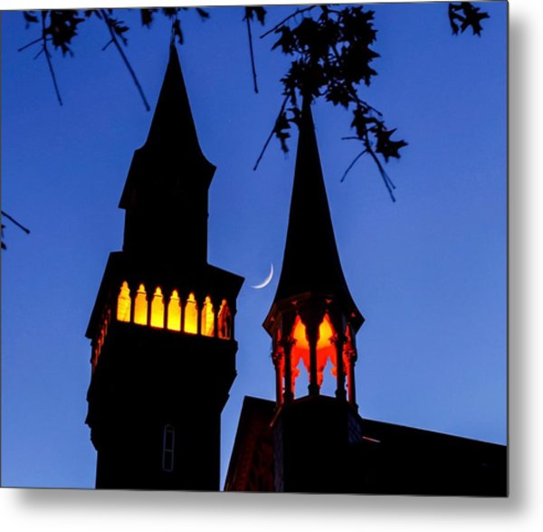 Old Town Hall Crescent Moon Metal Print