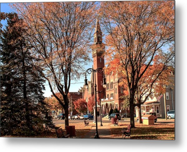 Old Town Hall In The Fall Metal Print