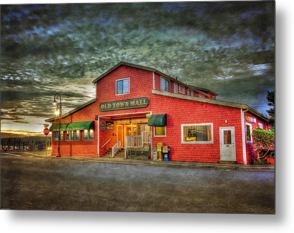 Old Town Mall Bandon Metal Print