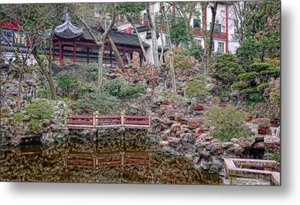 Old Town Rock Garden Shanghai Metal Print by Barb Hauxwell