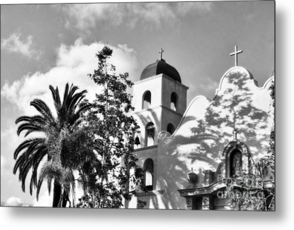 Old Town San Diego Shadows 3 Bw Metal Print