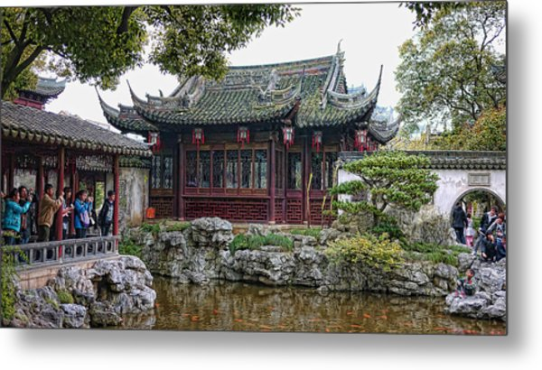 Old Town Shanghai Metal Print by Barb Hauxwell