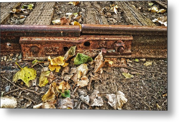Old Tracks Metal Print