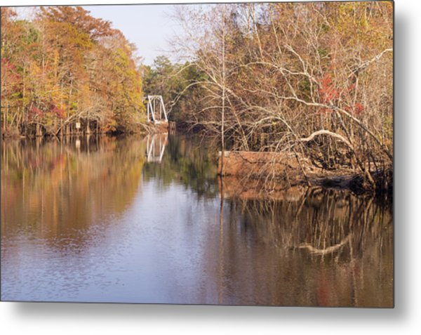 Old Trestle On The Waccamaw River Metal Print