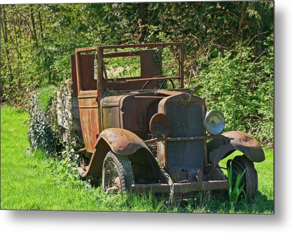 Old Truck II C1002 Metal Print by Mary Gaines