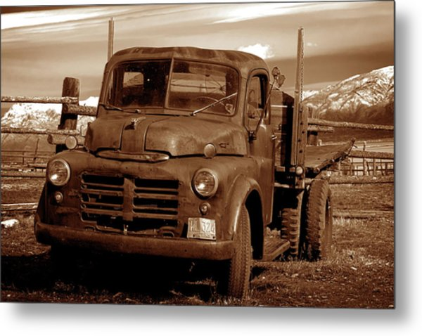 Metal Print featuring the photograph Old Truck by Norman Hall