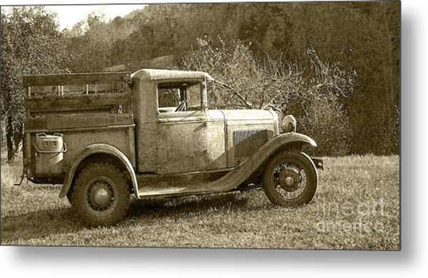 Old Truck On The Mountain Metal Print