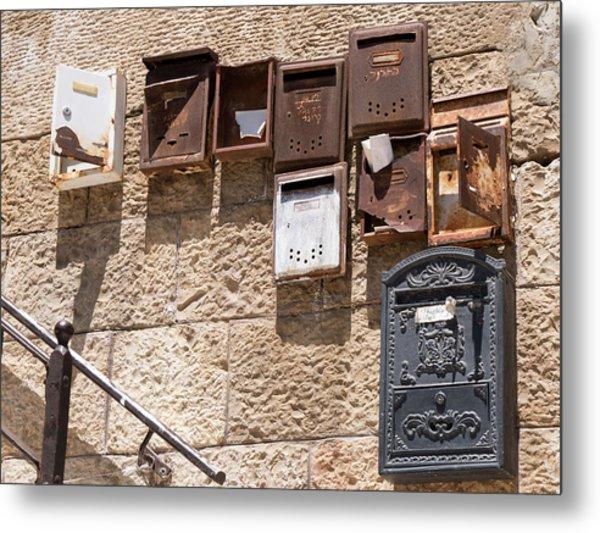 Old  Mailboxes In Jerusalem Metal Print