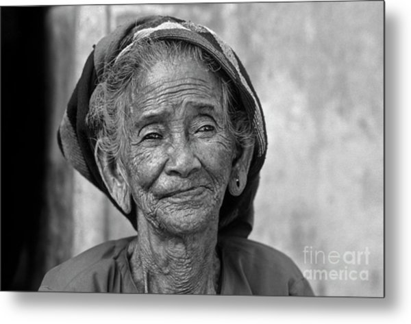 Old Vietnamese Woman Metal Print