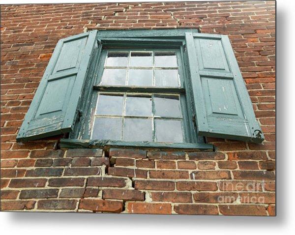 Old Warehouse Window Metal Print