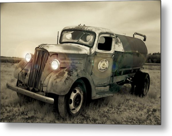 Old Water Truck Metal Print