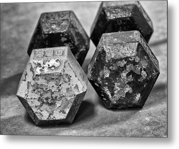 Old Weight Metal Print