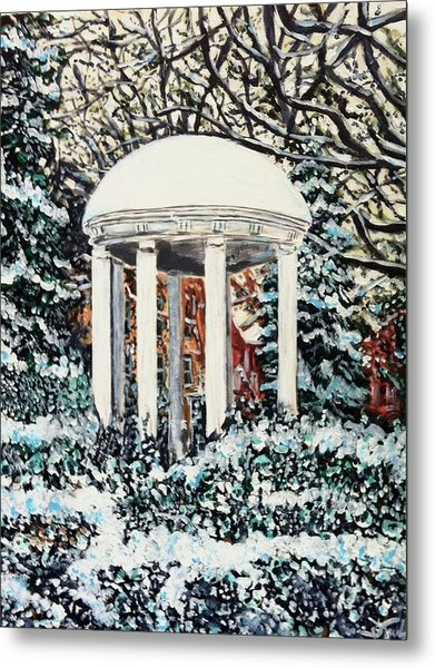 Old Well Winter Metal Print