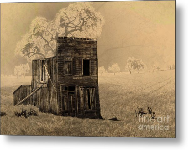 Old West Building Metal Print by Ronald Hoggard