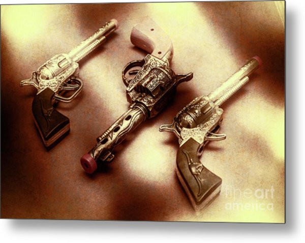 Old Western At Play Metal Print
