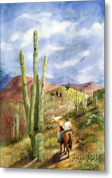 Old Western Skies Metal Print