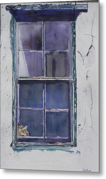 Old Window And New Home Metal Print