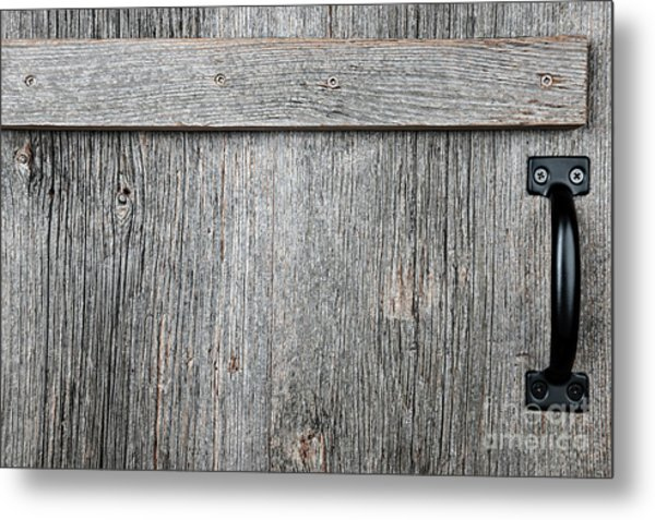 Old Wooden Door Detail Metal Print