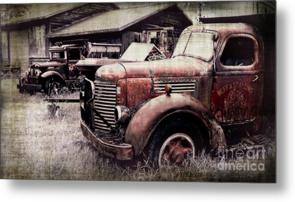 Old Work Trucks Metal Print