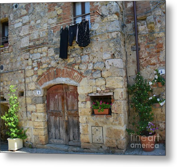 Old World Door Metal Print