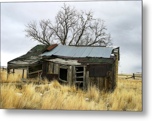 Old Wyoming Farmhouse Metal Print