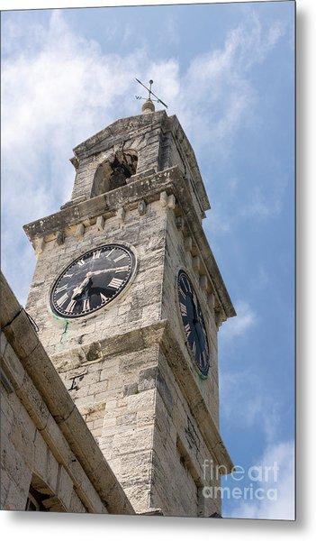 Olde Time Clock Metal Print