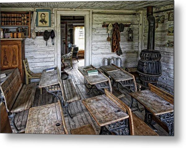 Oldest School House C. 1863 - Montana Territory Metal Print