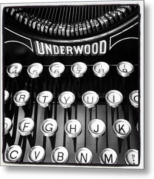 #oldskool #typewriter #blackandwhite Metal Print