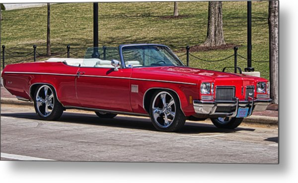 Oldsmobile Delta Royale 88 Red Convertible Metal Print
