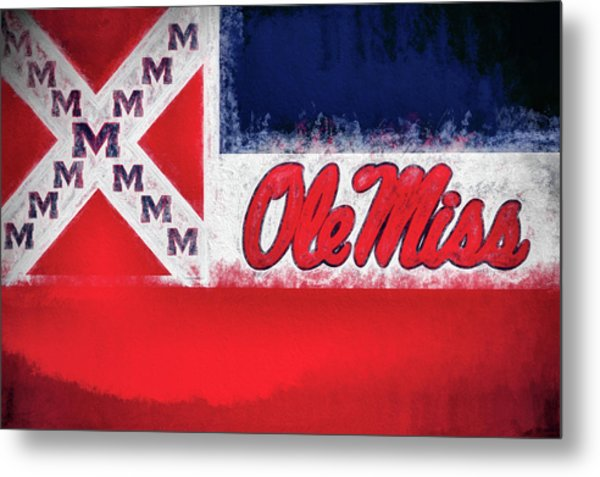 Ole Miss Mississippi State Flag Metal Print by JC Findley