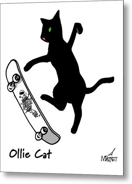 Ollie Cat Metal Print
