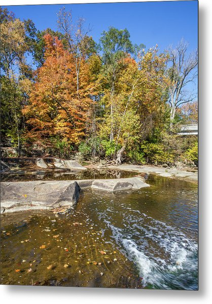 Metal Print featuring the photograph Olmsted Falls Autumn Spendor by Lon Dittrick