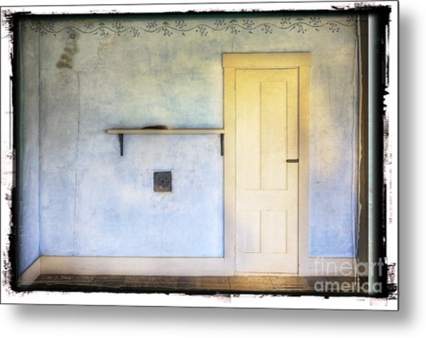 Olson White Door Metal Print