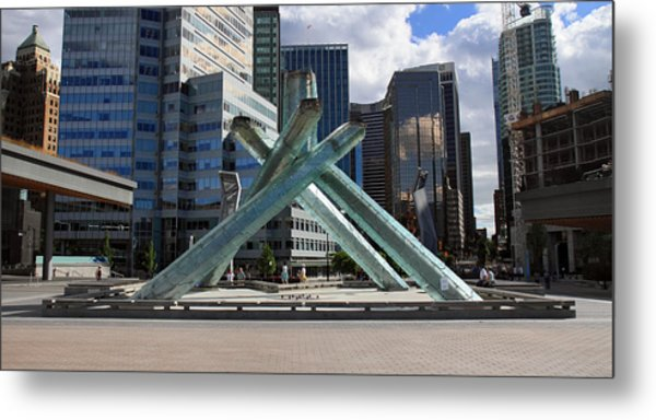 Olympic Cauldron Vancouver Canada Metal Print by Pierre Leclerc Photography