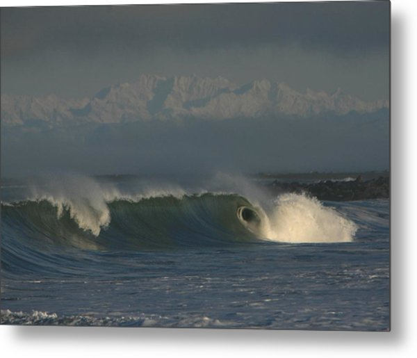 Olympics Over Halfmoon Bay Metal Print by Mike Coverdale