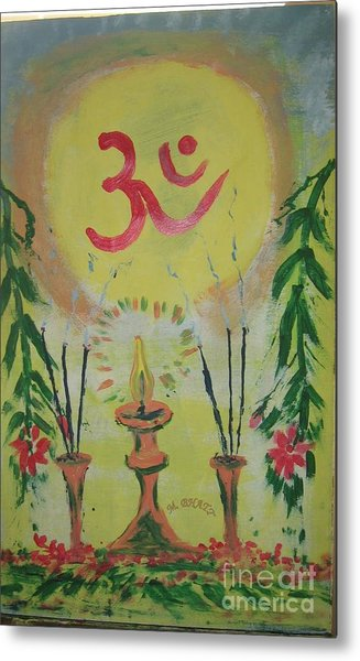 Om Immage For Memmory Metal Print by m Bhatt