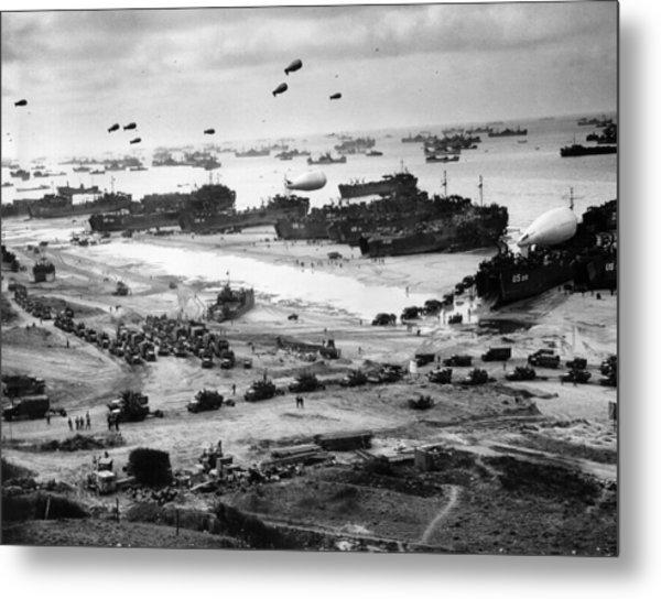 Omaha Beach Resupply - Normandy Invasion - 1944 Metal Print