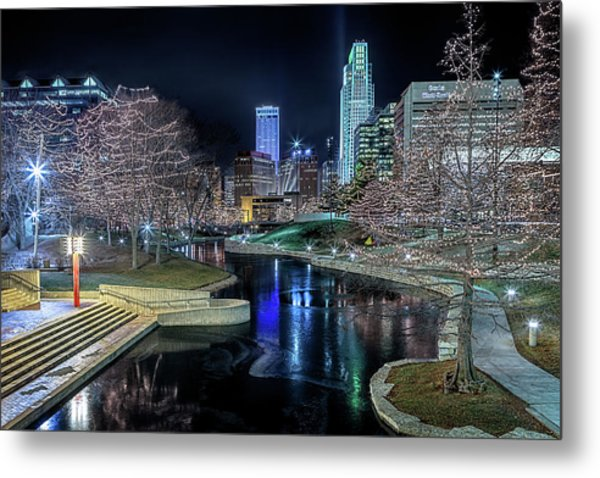 Metal Print featuring the photograph Omaha Holiday Lights Festival by Susan Rissi Tregoning