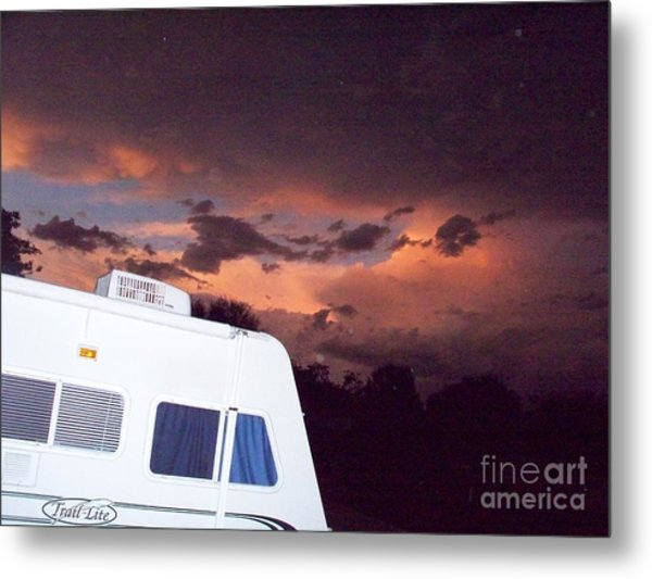 Ominous Beauty Travel Metal Print by Chuck Taylor