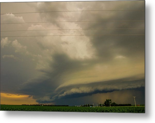 Ominous Nebraska Outflow 007 Metal Print