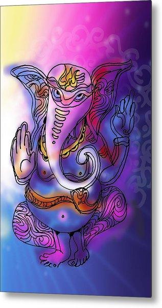 Omkareshvar Ganesha Metal Print