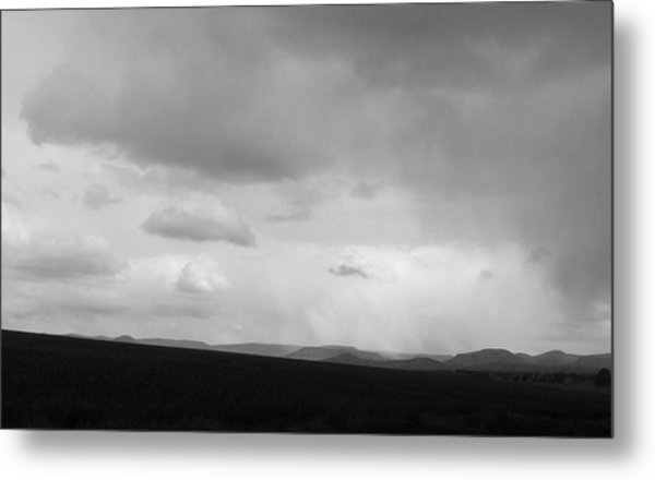 On A Cloudy Rainy Day Metal Print