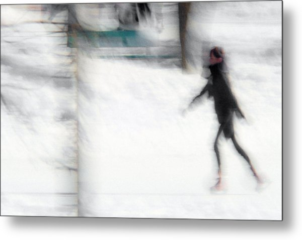 On A Frozen Pond Metal Print by Denis Bouchard