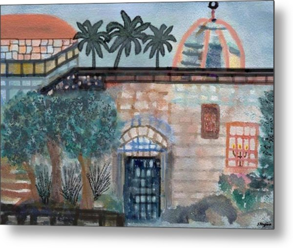 On A Street In Hebron Metal Print by Sher Magins