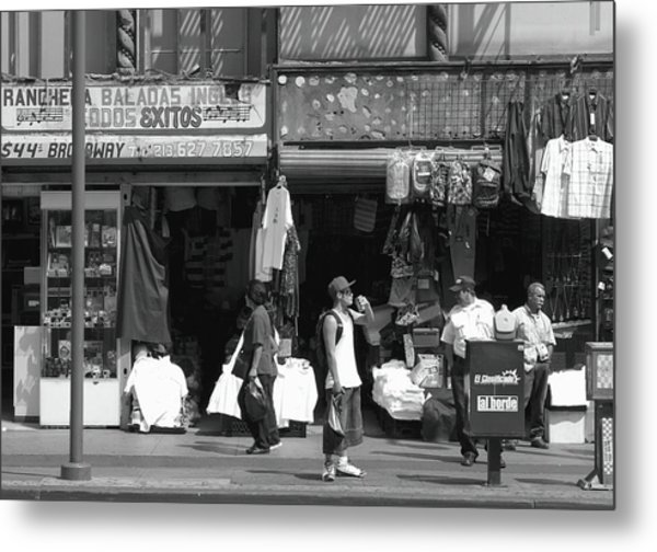 Metal Print featuring the photograph On Broadway Los Angeles Style by Lorraine Devon Wilke