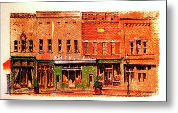 On Market Square Metal Print