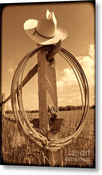 On The American Ranch Metal Print