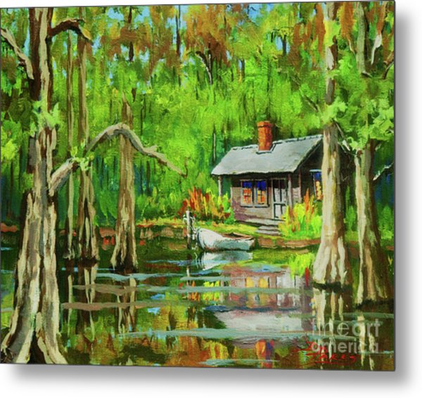 On The Bayou Metal Print