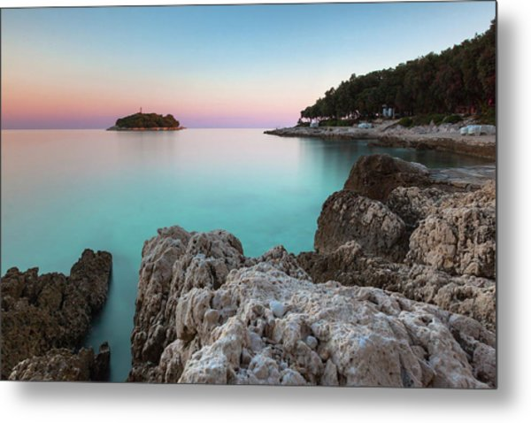 On The Beach In Dawn Metal Print