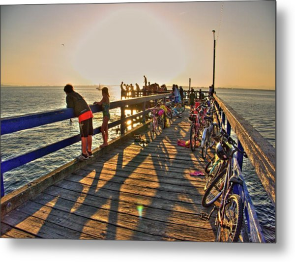 On The Dock 0 Metal Print
